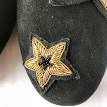 Michael Kors Femmes Chaussures Noir en Cuir Caoutchouc Semelle Broderie Size 6.5 image 6