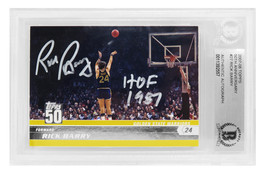 Rick Barry Signed Golden State Warriors 2007-08 Topps 50th Anniversary B... - £72.58 GBP