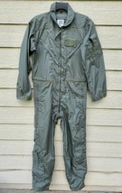 New Us Air Force Usaf Nomex Fire Resistant Flight Suit Green CWU-27/P - 40R. - $123.75