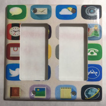 Social Media icons Light Switch Duplex Outlet wall Cover Plate Home decor image 2
