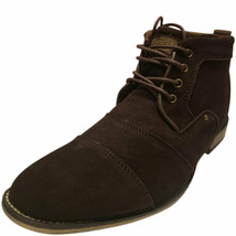 Steve Madden Men's Jonnie Cap toe Leather Boots Brown Suede 8 M MSRP 115... - €63,27 EUR