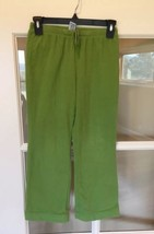 Gap Fleece Sweat Pants Stretch Parrot Green Girls Large 10 - $7.99