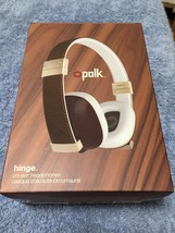 Headphones - Brown/Gold -    Polk Audio Buckle with 3 button control Brand New