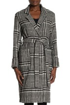 HYFVE  Womens Plaid Trench Coat Size Large Long Sleeves Waist Belt Tie NEW - $49.49