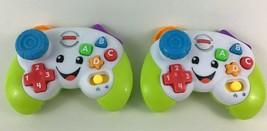 Fisher Price Laugh and Learn Game Controller 2pc Lot Sounds Talking Todd... - $24.70
