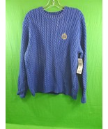 Ralph Lauren Pull Over Sweater XL~Emblem on Front ~Blue~New with Tags~ S... - $52.42