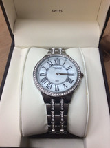 Anne Klein New York Womens Stainless Steel Crystal Silver Watch 12/2265 ... - $79.19