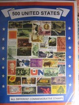 US ANTIQUE STAMP LOT ALL DIFFERENT USED WELL MIXED 500 DIFFERENT FREE SH... - $17.81