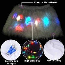 Women's Mini Led Light up Faux Fur Skirt image 5