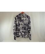 Zoo York Hooded Zipper Sweatshirt Men's Size Medium 100% Cotton Graphics... - $19.34