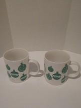 2 Starbucks Coffee Mugs Ornaments Cups 2016 Green White 12oz Christmas E... - $14.62