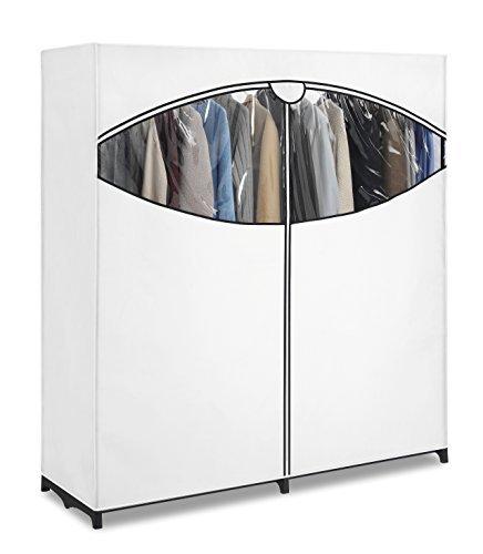 Whitmor ExtraWide Portable Clothes Storage Closet Wardrobe White 6822-167-B