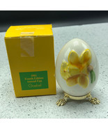 1981 GOEBEL ANNUAL EASTER EGG West Germany 4th edition figurine flower y... - $29.65