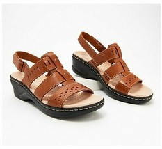 Clarks Collection Lexi Qwin Leather Cut-Out Sandals, Tan, US 9.5 Medium,... - $44.54