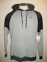 Vans Mens Core Colorblock pullover hoodie sweatshirt Black Grey Free Shi... - $36.99
