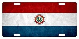 PARAGUAY Flag Custom License Car Truck Plate National Patriotic Emblem Dirty Ver - $11.87