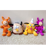 Complete Set 4 Meanies Twisted Toys 1999 DOPEYMAN NO FUR-BE & 2 TELETUSH... - $22.31