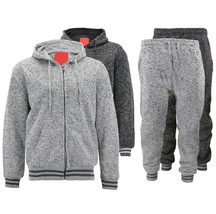 MX USA Casual Athletic Sweater Jogging Pants Fleece Gym Running Track Suit Set image 1
