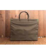 Authentic PRADA Army Green Tessuto XL Tote Bag Unisex Mens - $425.00
