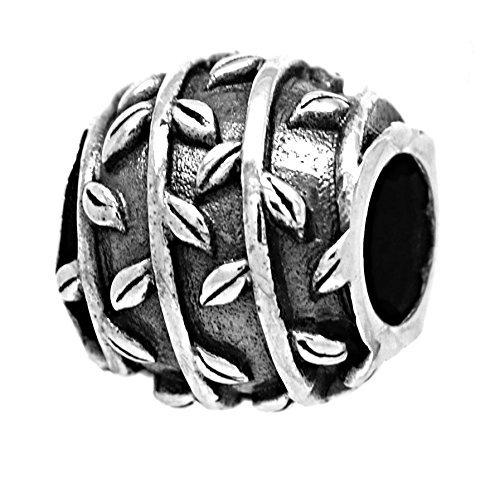 Persona Sterling Silver Cottage Vines Charm Sterling Silver Charm Fits Pandora,