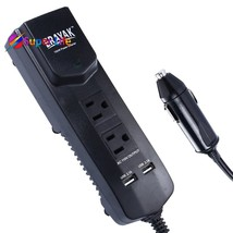 Car Power Inverter Cigarette Lighter Strip US Outlets USB Charging Ports... - $24.64