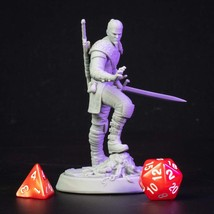 Monster Hired - Hunter - 3D Printed -Resin - Miniature Unpainted - 32 Or 75mm sc - $14.99