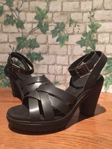 Timberland Women's Chauncey Ankle Strap High Heel Sandals  Black A1JHE S... - $55.00