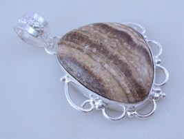 Zebra Jasper  Silver Overlay Handmade Pendant Jewelry 9 Gr. oj-374-19 - $4.49