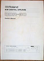 Roland DDR-30 Digital Schlagzeug Midi Modul Original Owner's Handbuch Op... - $29.68