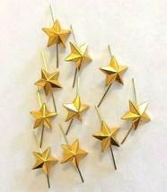 Lot of 10 russian army lieutenant shoulder rank metal 13mm gold star pin - $6.14