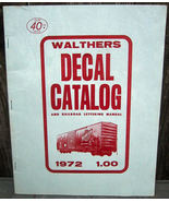 Walthers 1972 Decal Catalog Lettering for 140 Major Railroads - $17.95