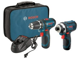 Bosch CLPK22-120 12-Volt Lithium-Ion 2-Tool Combo Kit (Drill/Driver and Impac... - $198.10