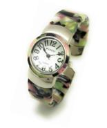 Ladies Silver Case Unique Acrylic Bangle Cuff Stylish Fashion Watch Pearl - £42.60 GBP