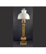 VTG Table Hurricane Lamp Style Electric Glass Globe Lighting Gone With T... - $98.99