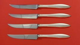 "Esprit by Gorham Sterling Silver Steak Knife Set 4pc HHWS  Custom Made 8 1/2"" - $289.00"