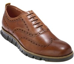 NEW Cole Haan Zerogrand Men's Size 9.5 British Tan Wingtip Oxford C24964 - $128.69