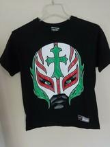 EUC Vintage 2008 WWE Rey Mysterio Jr. Boys M 2 Sided T-Shirt Free Shipping - $23.16