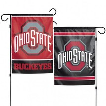 Ohio State Buckeyes Flag 12x18 Garden Style 2 Sided**Free Shipping** - $19.80