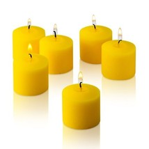 10 Hour Citronella Yellow Votive Candles Set of 12 Made in USA - $21.02