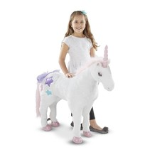 Melissa & Doug Kids 8801 Unicorn Jumbo Stuffed Plush Animal Ages 3+ Year... - $84.95