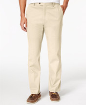 NEW MENS TASSO ELBA SIGNATURE CHINO FLAT FRONT IVORY NATURAL PANTS 36 x 30 - $432,79 MXN