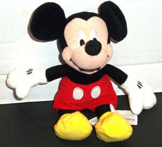 """The Disney Store Collectible MICKEY MOUSE 9"""" Beanbag Dated 2001 EUC - $6.23"""