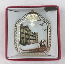 Nations Treasures Charleston S.C. Rainbow Row 24K Brass Metal Souvenir Ornament - $15.00