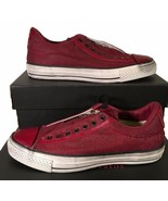 Converse John Varvatos Burnished Canvas Chuck Taylor Slip on Sneaker Red... - $84.00