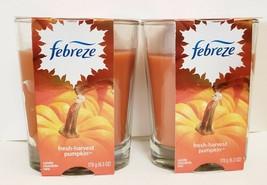 2X Febreze Fresh-Harvest Pumpkin Scent Limited Edition Double Wick Candl... - $28.45