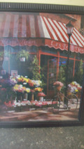 LES PETIT FLEURS, FRENCH SIDEWALK CAFE FRAMED PRINT by T.C. CHIU - $111.38