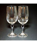 2 (Two) CRISTAL D'ARQUES VENISE SAPHIR COURVOISIER Crystal Wine Glasses - $39.59