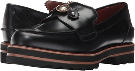 Coach Women's Slip On Platform Leather Fashion Shoes Lenox Loafer Black Step