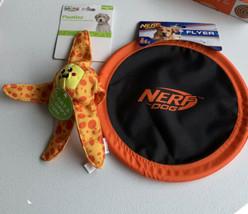 Lot Of 2 Dog Toys Nerf Frisbee/outward Hound Floatiez - $14.84