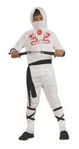 Boys White Ninja Halloween Costume 4-6 Years - $20.00